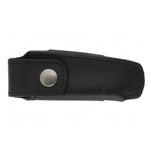 Black leather case for pocket knives N°22